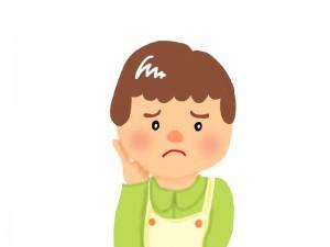 口内炎が痛む人 イラスト