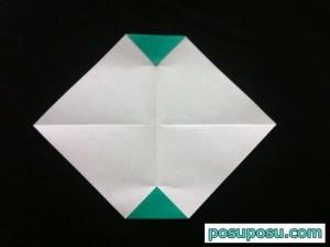 スイカの折り紙の折り方07