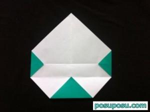 スイカの折り紙の折り方10