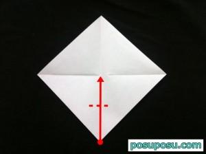 スイカの折り紙の折り方04