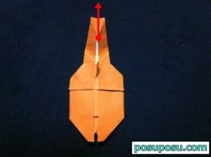 カブトムシの折り紙の折り方32
