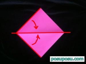 うさぎの折り紙の折り方(簡単)03