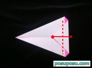 うさぎの折り紙の折り方(簡単)05