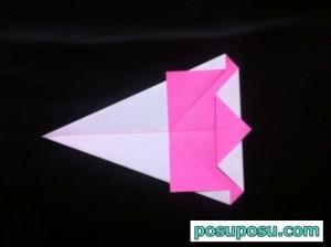 うさぎの折り紙の折り方(簡単)07