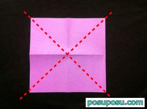 ハート 折り紙 折り紙 あやめの折り方 : posuposu.com