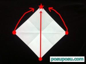 あやめの折り紙の折り方(簡単)04