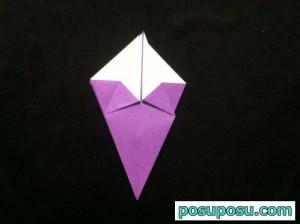 あやめの折り紙の折り方(簡単)09