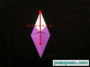 あやめの折り紙の折り方(簡単)10