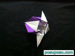 あやめの折り紙の折り方(簡単)12