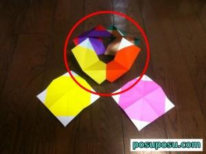 七夕飾り・折り紙でのくす玉の作り方13