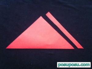 スイカの折り紙の折り方17