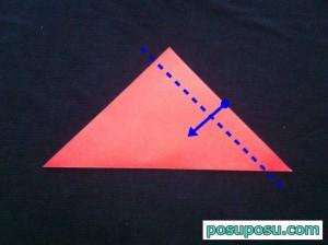 スイカの折り紙の折り方15
