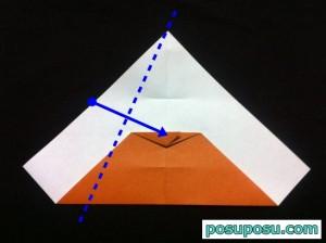 カブトムシの折り紙の折り方11