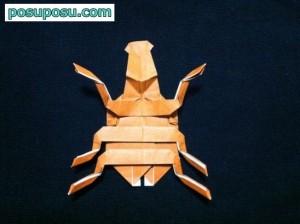 カブトムシの折り紙の折り方55