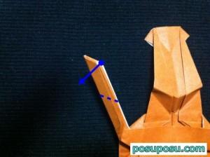 カブトムシの折り紙の折り方52