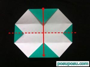 スイカの折り紙の折り方11