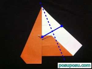 カブトムシの折り紙の折り方13