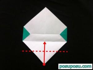 スイカの折り紙の折り方09