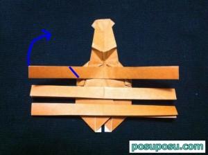 カブトムシの折り紙の折り方48