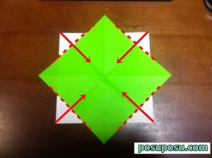 七夕飾り・折り紙でのくす玉の作り方07