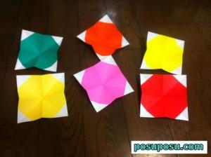 七夕飾り・折り紙でのくす玉の作り方11