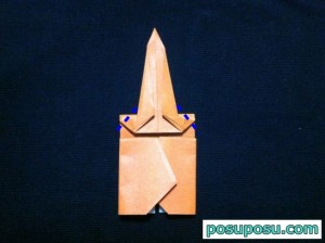 カブトムシの折り紙の折り方22