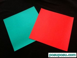 スイカの折り紙の折り方01