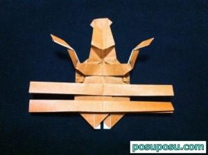 カブトムシの折り紙の折り方54