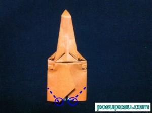 カブトムシの折り紙の折り方24
