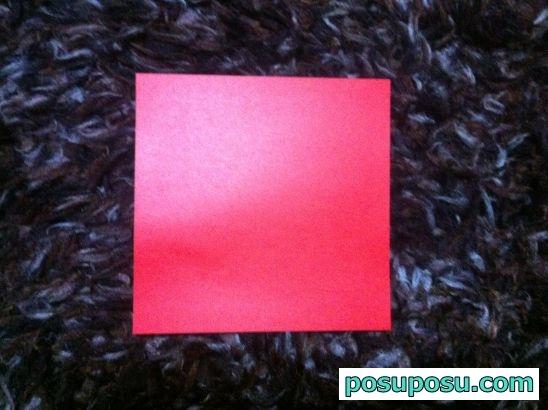折り紙のりんごの折り方01
