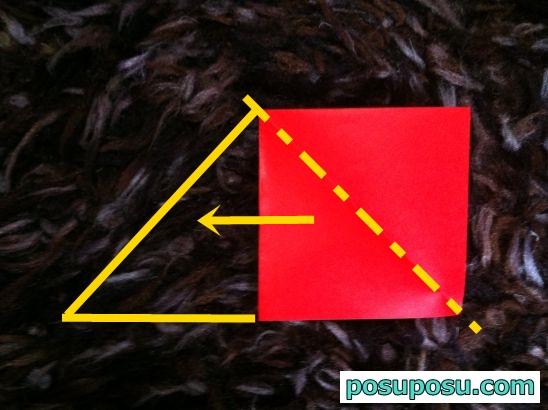 立体りんごの折り紙の折り方05