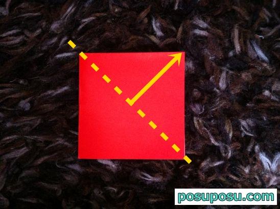 立体りんごの折り紙の折り方04