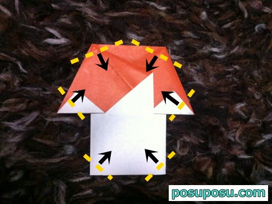 きのこの折り紙の折り方07