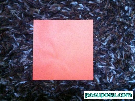 きのこの折り紙の折り方01