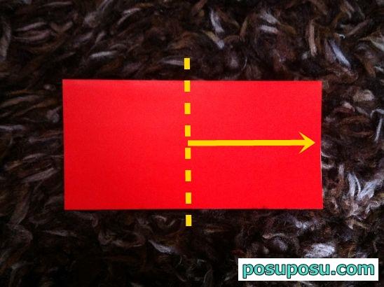 立体りんごの折り紙の折り方03