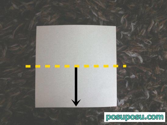 立体りんごの折り紙の折り方02