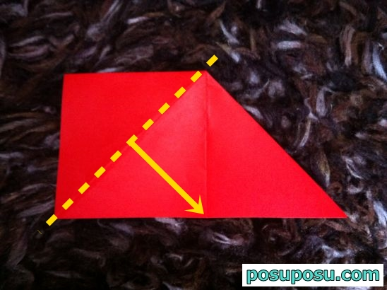 立体りんごの折り紙の折り方06